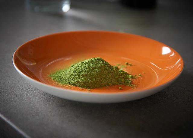 zelený prášek